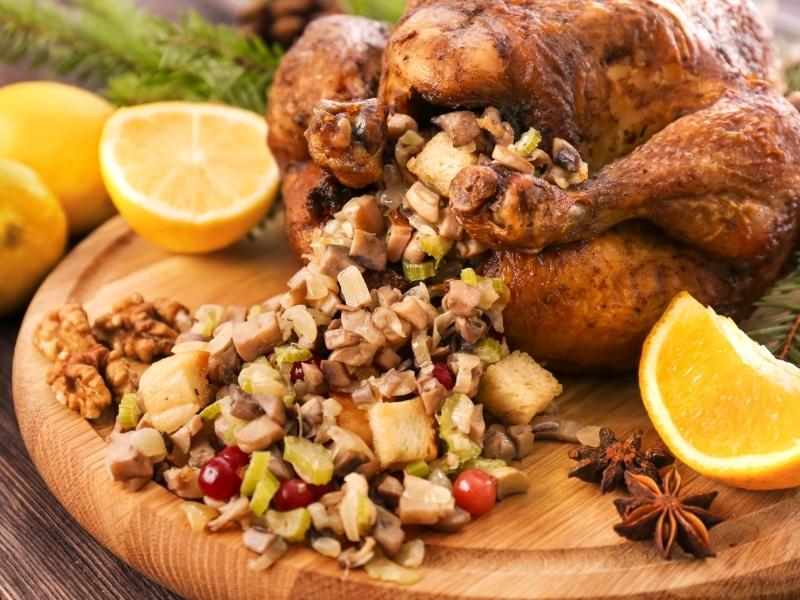 Butter-Basted Roast Turkey with Mushroom Gravy