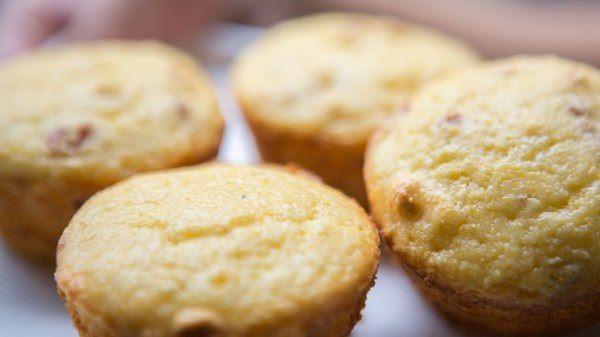 Garlic and sun dried tomato corn muffin
