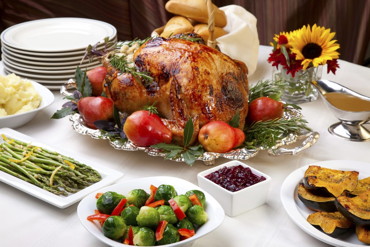 Roasted Turkey with Onions and Pears