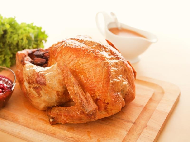 Smoked Paprika Rubbed Turkey with Shallot and Madeira Gravy