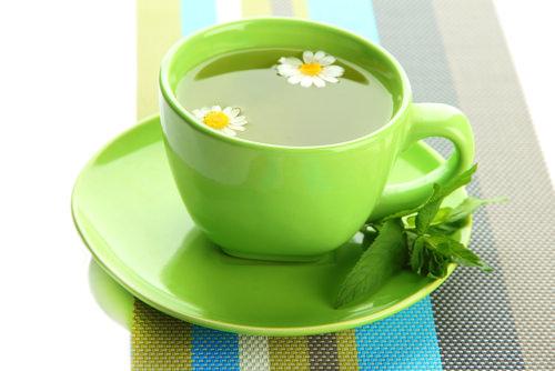 Iced Green-Ginger-Mint Tea