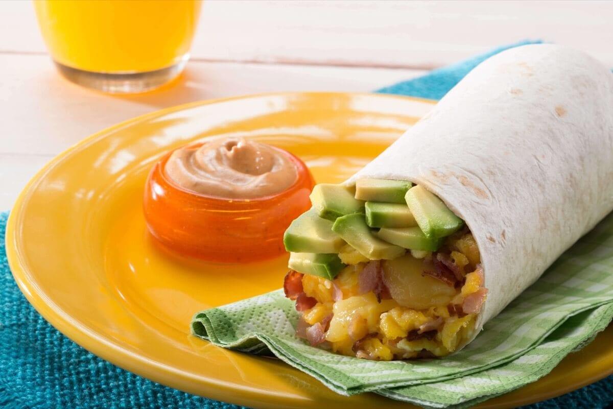 Avocado Egg Burrito
