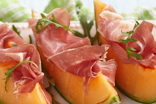 Cantaloupe and bacon