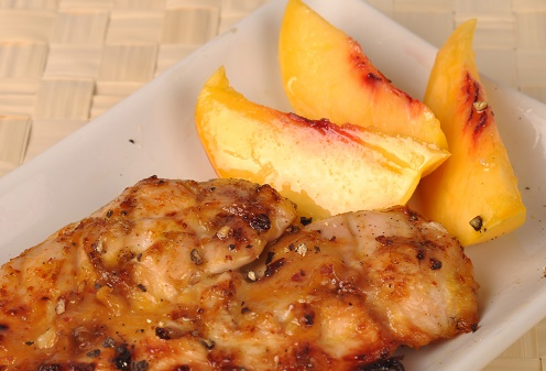 Chicken and Peaches Cheese Plate