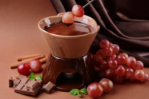 Chocolate Frangelico fondue