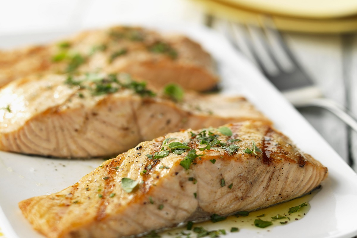 Citrus Salmon with Caramelized Onions and Carrots