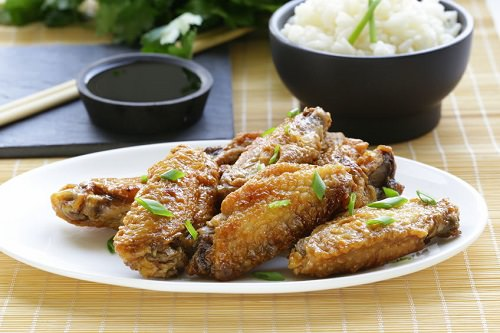 Glazed chicken wings, Asian-style