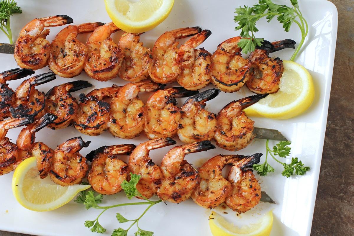 Grilled Rum Shrimp