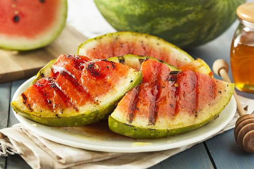 Grilled watermelon slices