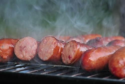 Grilled summer sausage sliders