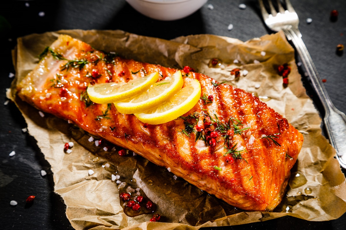 Juicy Grilled Salmon