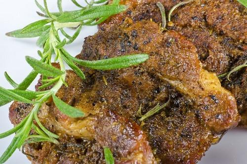 Lavender Rosemary Pork Steaks