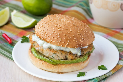 Lime Turkey Burger