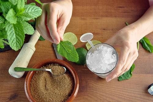 Mint mojito coffee