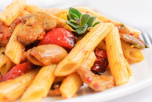 Penne with Grilled Summer Vegetables