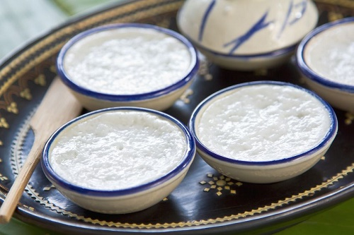 Rice coconut custard