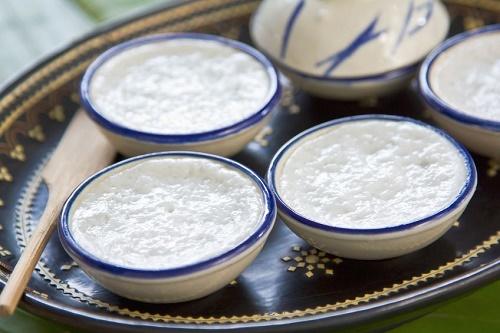 Rice coconut custard