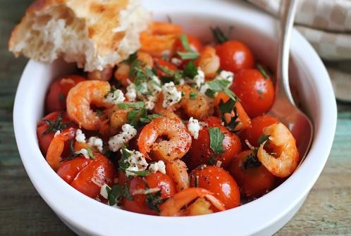 Roasted shrimp tomatoes