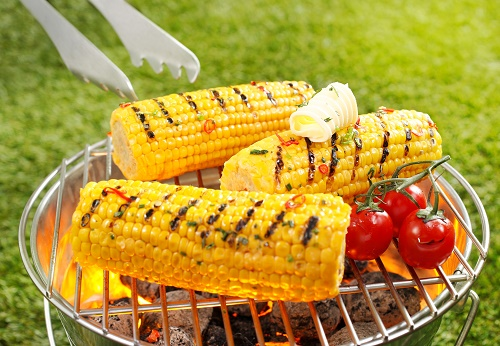 Spiced and grilled corn