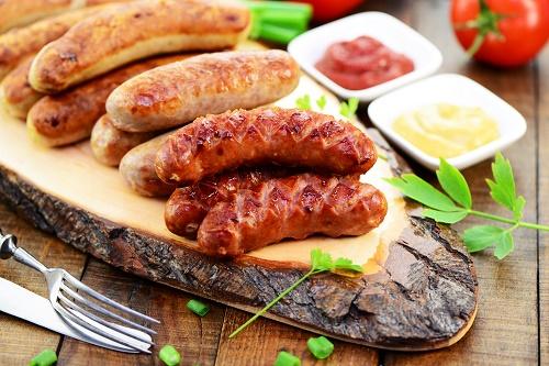 Summer sausage s'mores