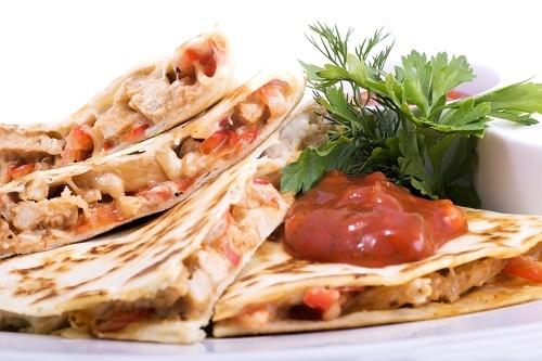 Tomato and mozzarella quesadillas