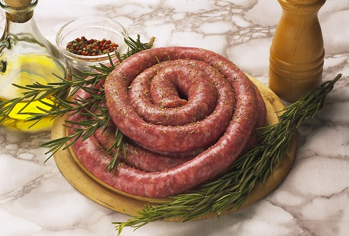 Venison and beef suet sausage