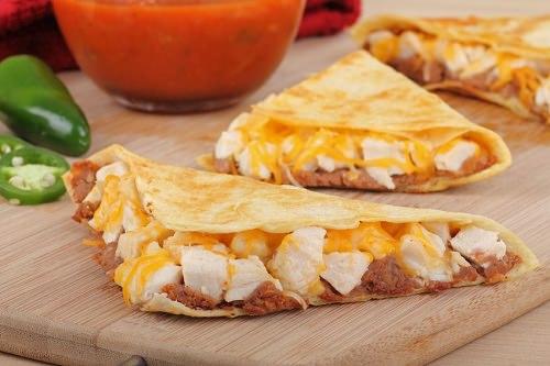 Festive Chicken Quesadillas