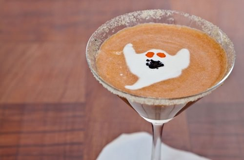 Ghost pumpkin martini cocktail