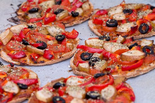 Ornament-Shaped Mini Pizzas