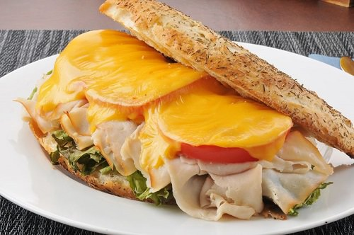 Roast turkey breast paninis
