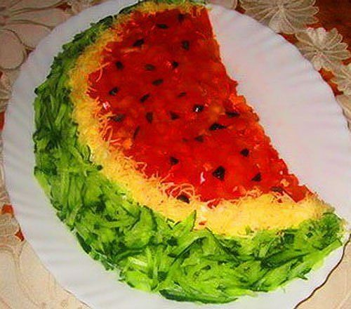 Fake Watermelon Slice Salad Recipe
