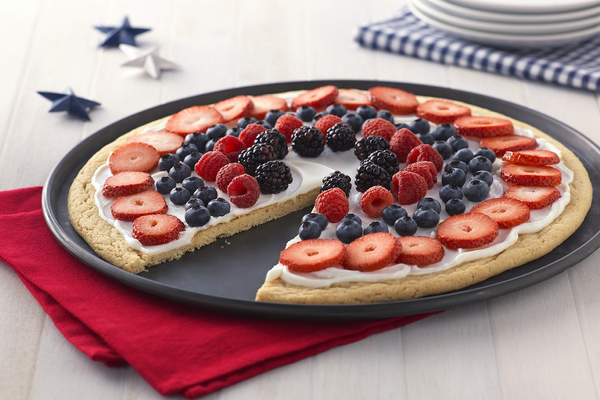Fourth of July Dessert Pizza
