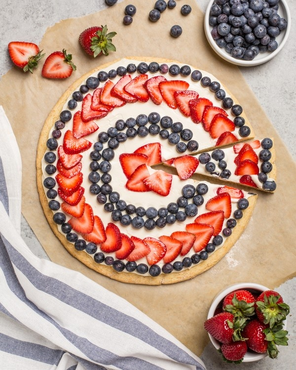 The Fourth of July Dessert Pizza