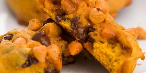pumpkin chocolate butterscotch chip cookies