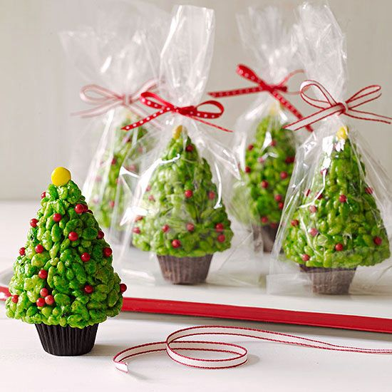 krispie christmas trees