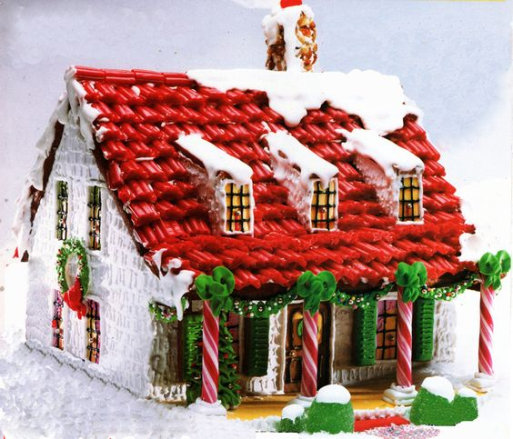 8 Red Licorice Roof 10 Awesome Gingerbread House Ideas