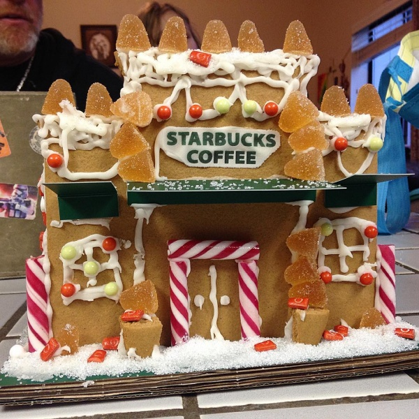 starbucks gingerbread house