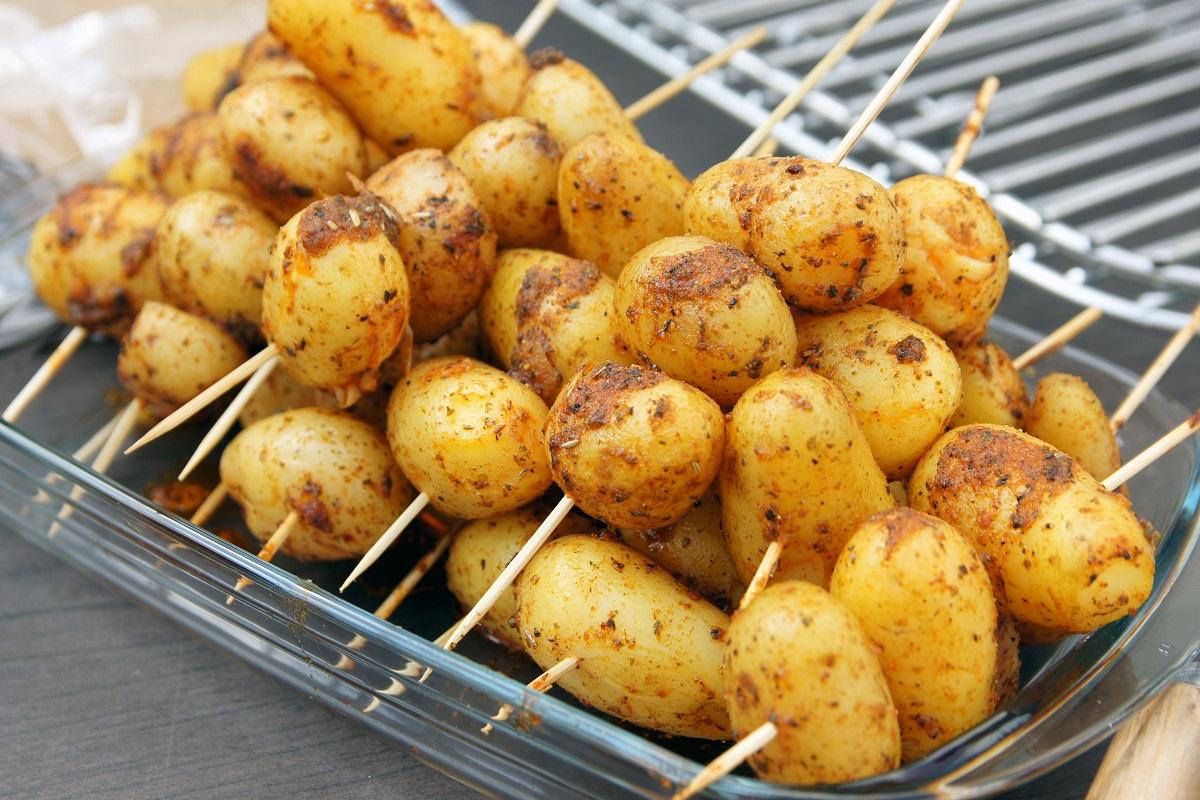 White potatoes and Sweet potatoes