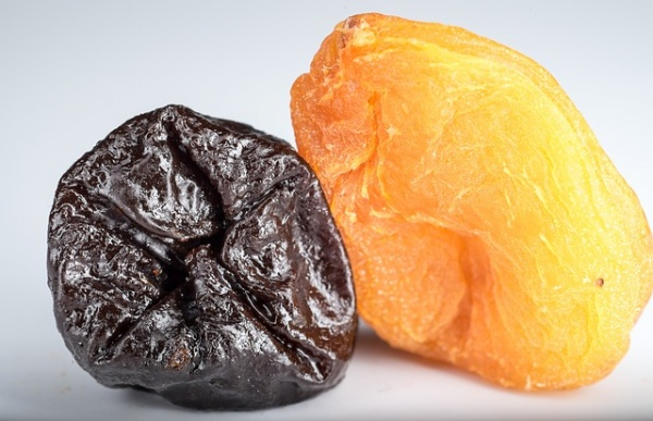 Dried apricots, dates, and prunes