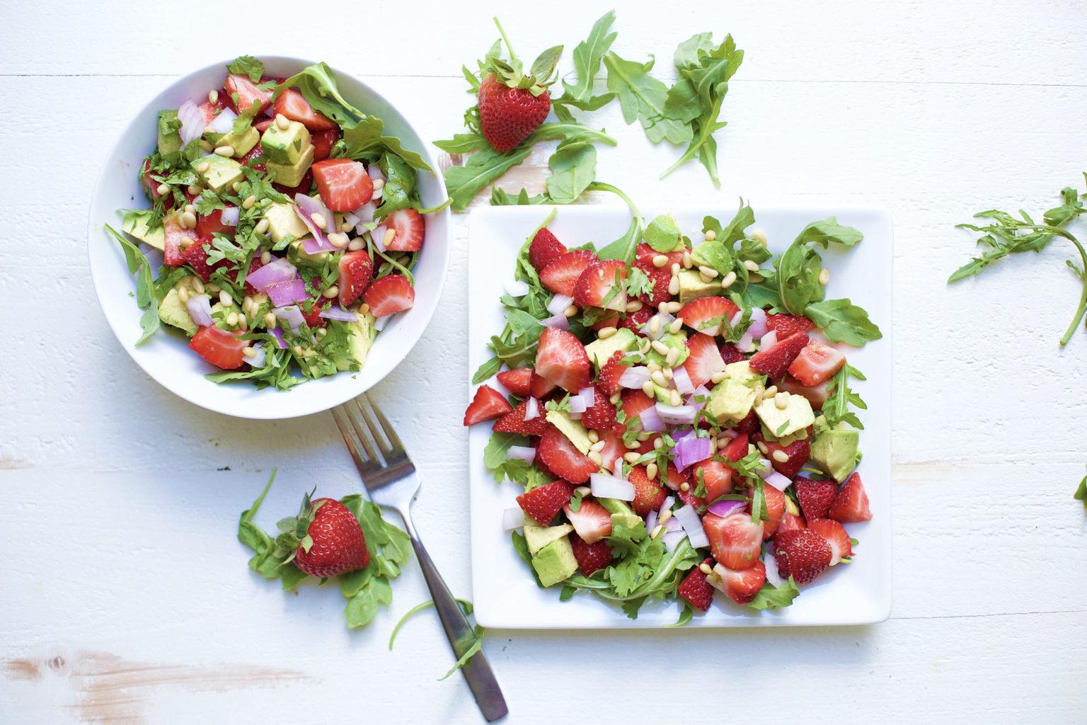 Avocado and strawberry salad