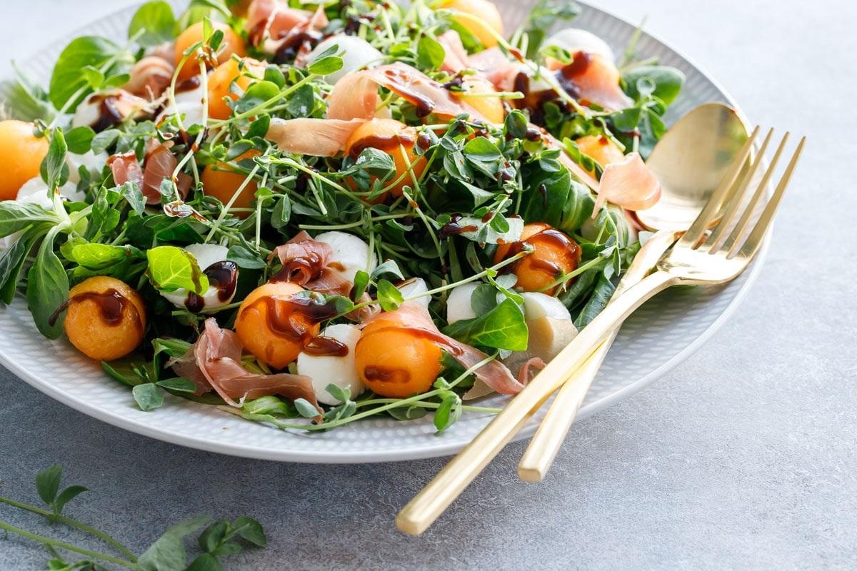 Melon mozzarella salad