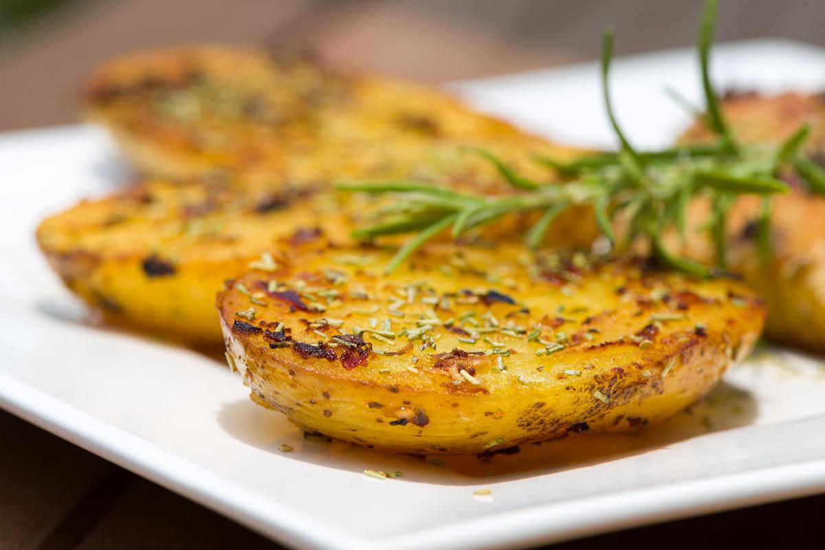 Smoke-baked herb potato