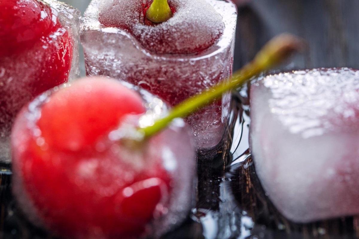 Cherry ice cubes