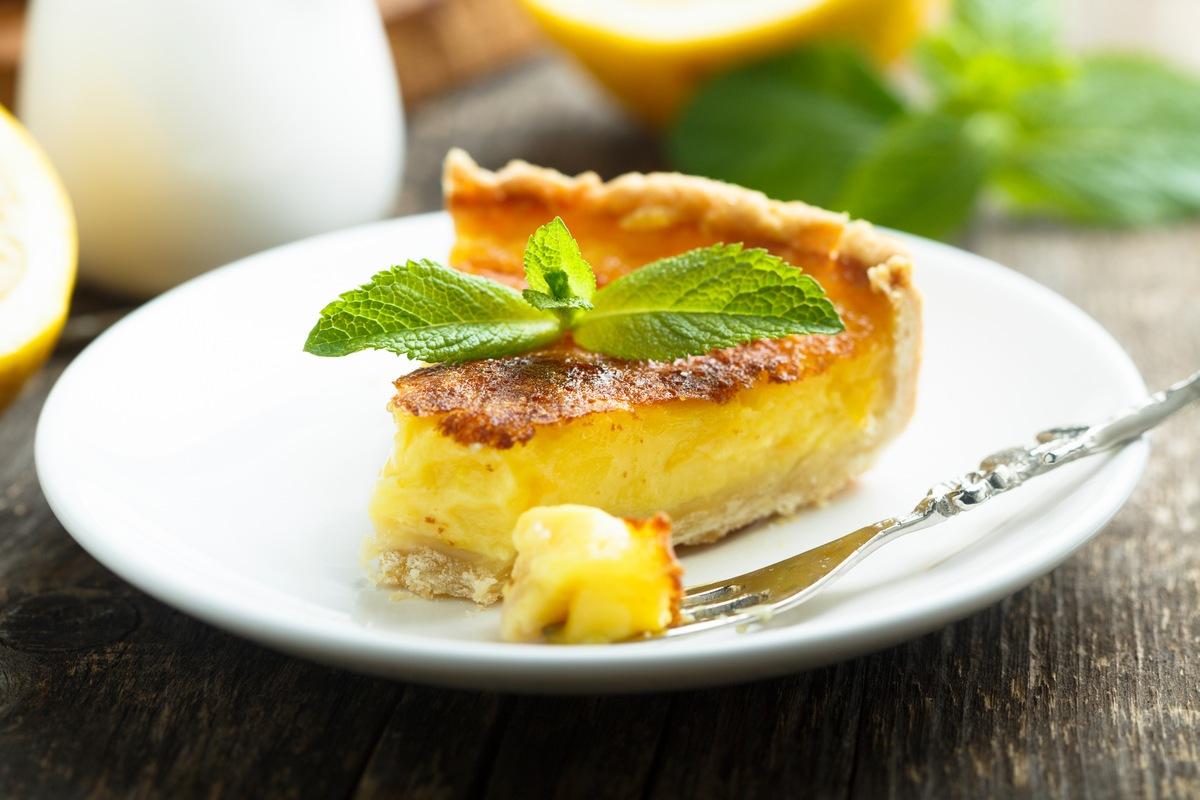Recipe for Creamy Meyer Lemon Tart