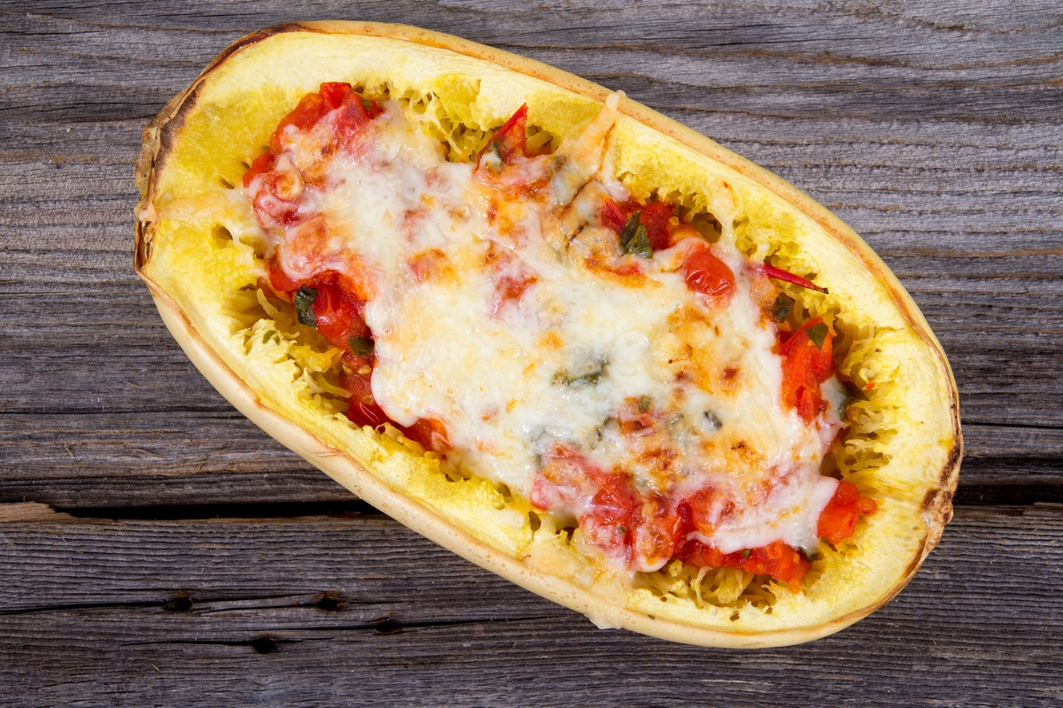 Recipe for Chorizo Spaghetti Squash Pasta