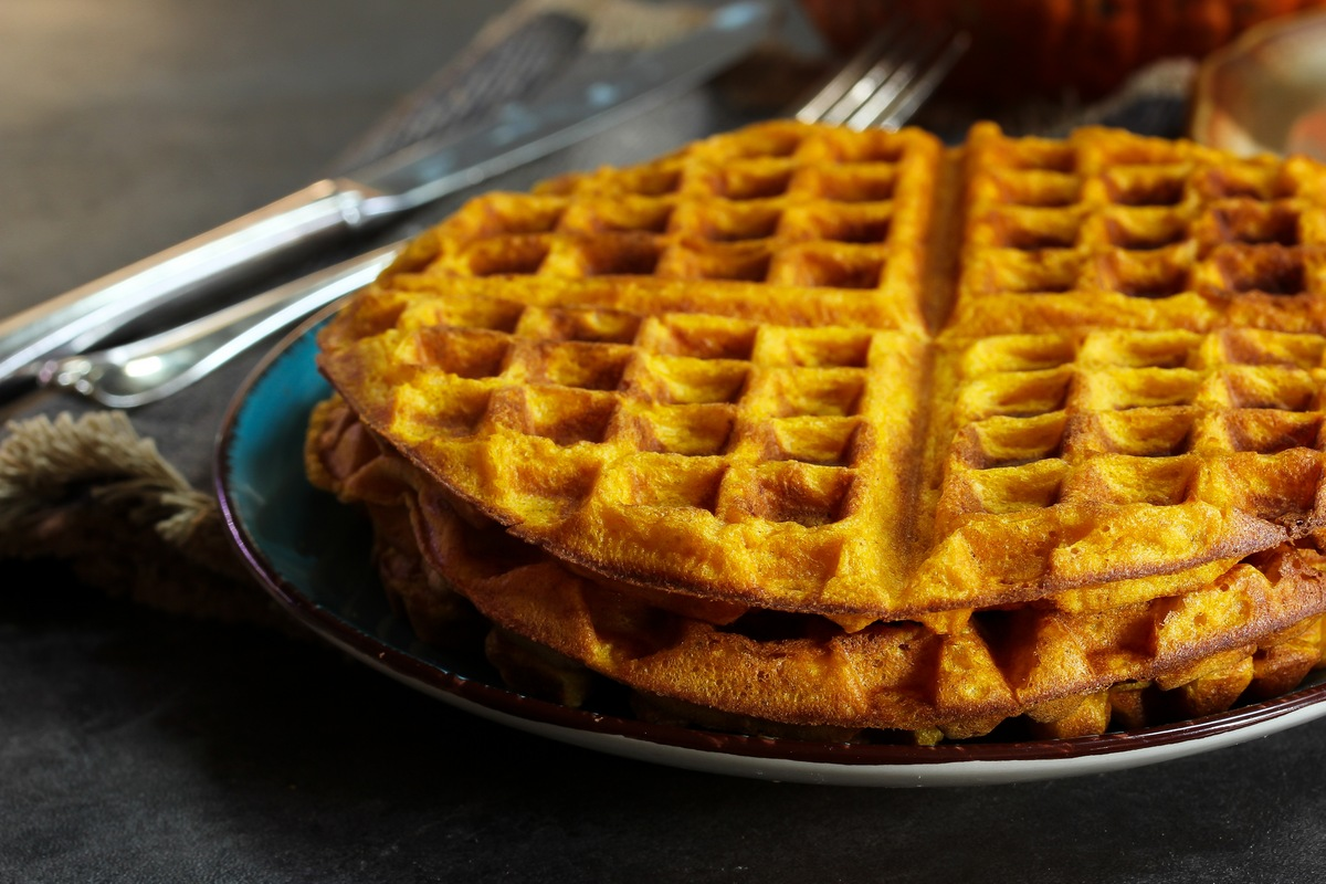 Recipe for Sweet & Savory Waffles with Pumpkin Ginger Butter