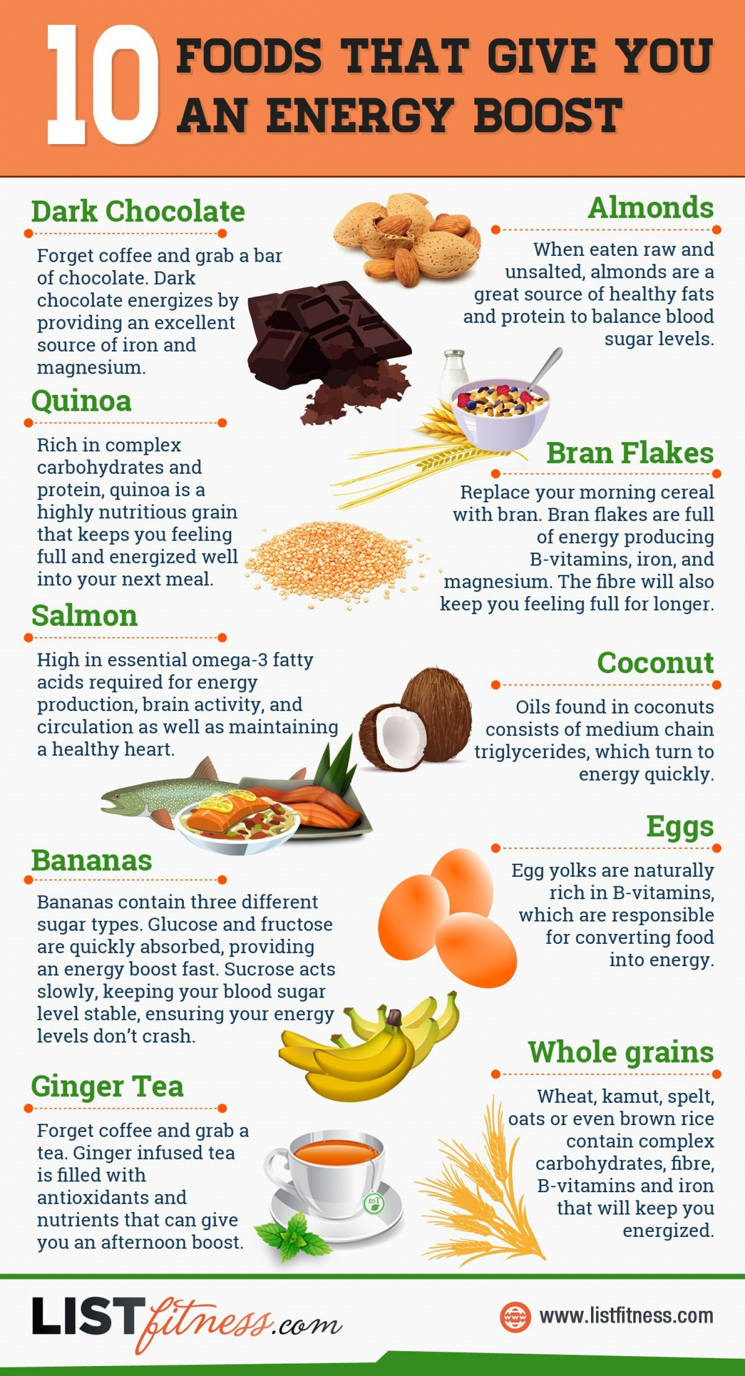 10 Foods That Give You An Energy Boost
