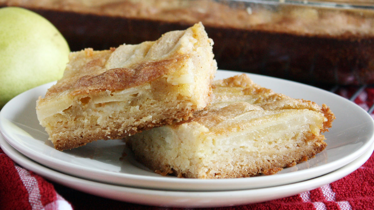 Brown Butter Pear Bars