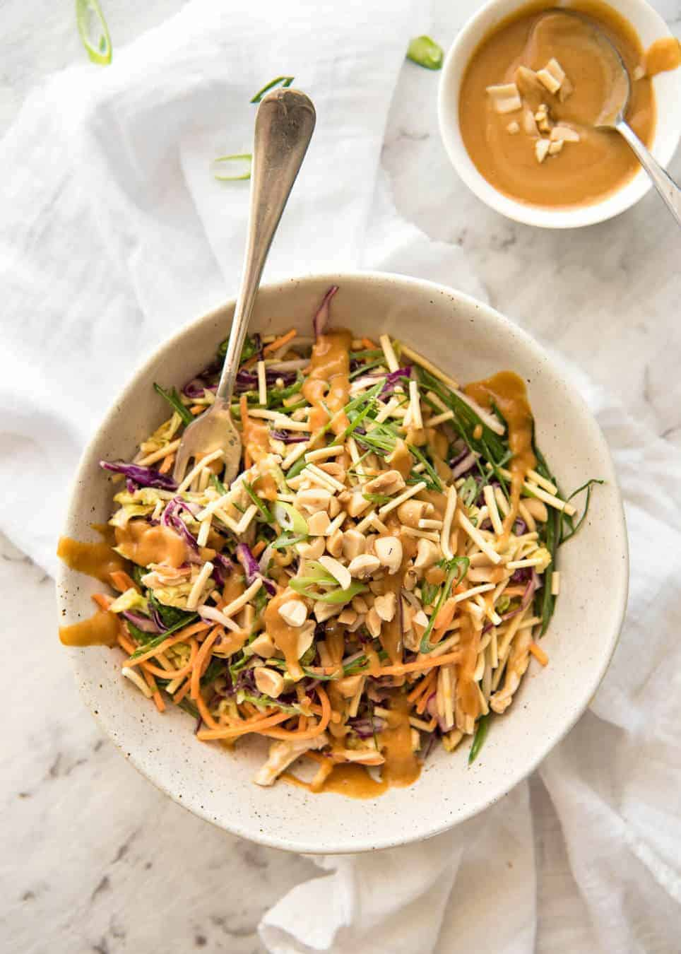 Chinese Chicken Salad With Asian Peanut Salad Dressing