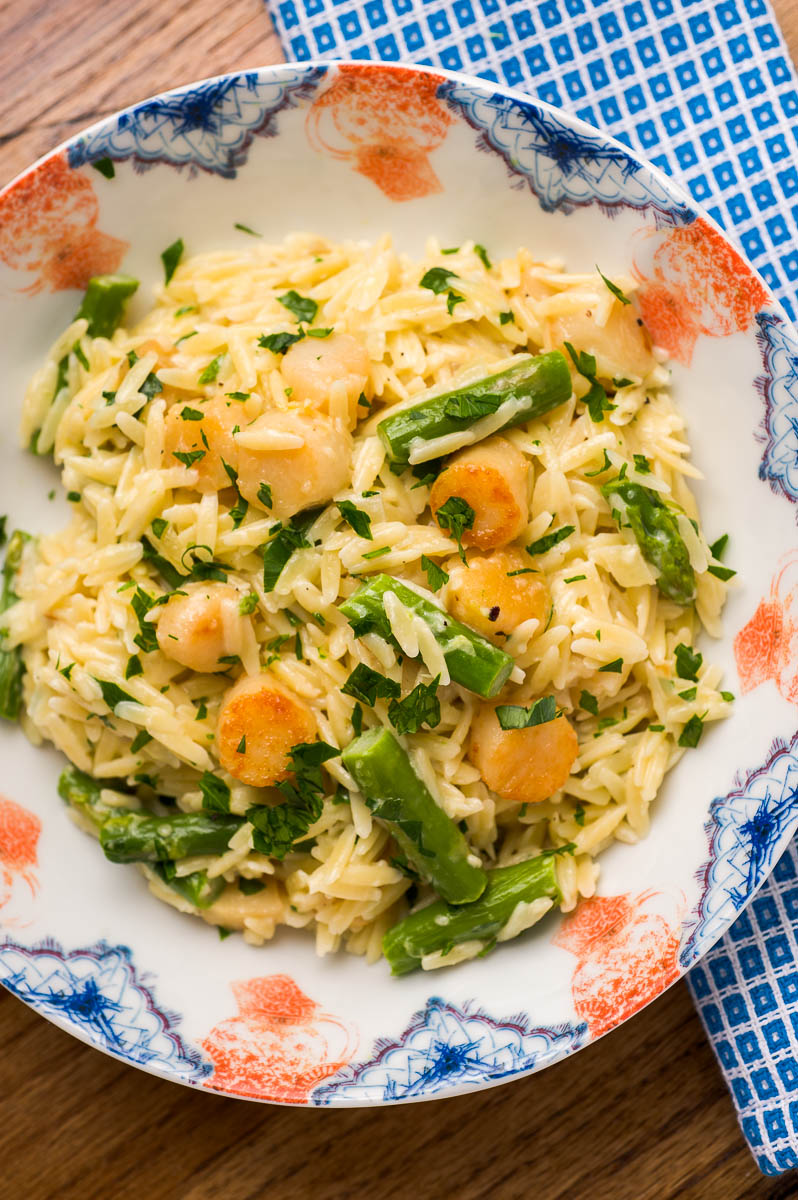Creamy Orzo With Bay Scallops